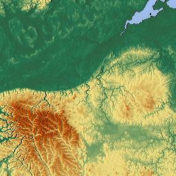 Elevation map of Irkutsk Oblast Russia MAPLOGS