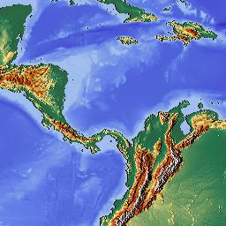 Caribbean Topographic Map.Sample World Relief Map Free For The Taking