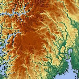 Elevation Map Of Hedmark Norway MAPLOGS - Norway elevation map