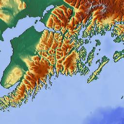 elevation map of kodiak island ak usa maplogs