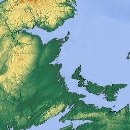 Elevation Map Of New Brunswick Canada MAPLOGS - Map of new brunswick