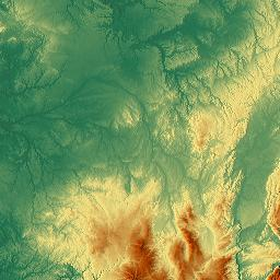Elevation map of LanguedocRoussillon MidiPyrnes France MAPLOGS