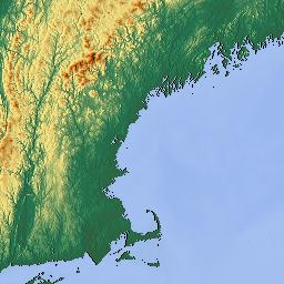 Elevation Map Of Maine USA MAPLOGS - Map of maine usa