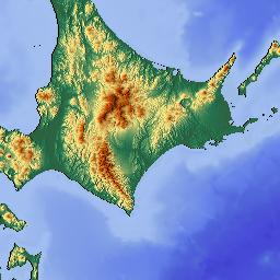 Elevation Map Of Hokkaido Prefecture Japan MAPLOGS - Japan elevation map