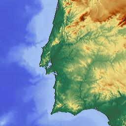 Elevation Map Of Portugal MAPLOGS - Portugal elevation map