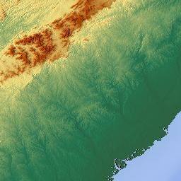 Elevation Map Of South Carolina USA MAPLOGS - South carolina elevation map