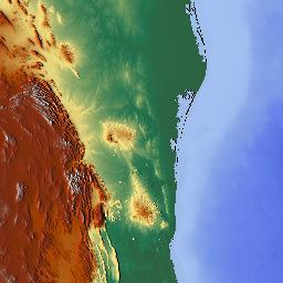 Elevation map of Louisiana USA MAPLOGS