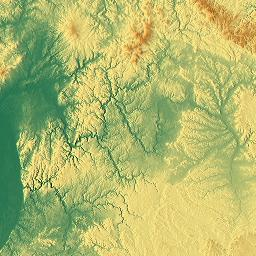 Elevation map of BadenWrttemberg Germany MAPLOGS