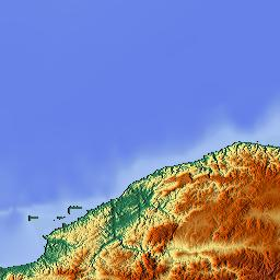 Elevation map of Samsun Turkey MAPLOGS