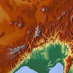 Elevation map of Adana Turkey MAPLOGS