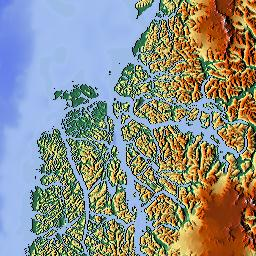 Elevation Map Of Río Chico Department Santa Cruz Province - Argentina elevation map
