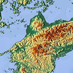 Elevation Map Of Hyogo Prefecture Japan MAPLOGS - Japan elevation map