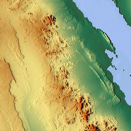 Elevation Map Of Qesm Hurghada Red Sea Governorate Egypt MAPLOGS - Map of egypt elevation
