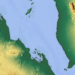 Elevation map of Taizz Governorate Yemen MAPLOGS
