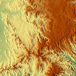 Elevation map of Singleton Shire Council Singleton NSW
