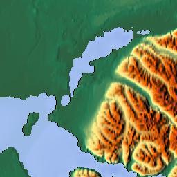 elavation map of anchorage ak usa