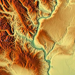 Elevation map of Yakima County WA USA MAPLOGS