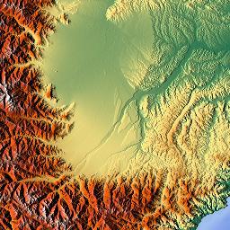 Elevation map of AlpesMaritimes France  MAPLOGS