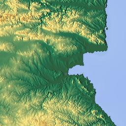 Elevation map of Burgas Bulgaria MAPLOGS