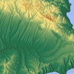 Elevation map of Tekirda Turkey MAPLOGS