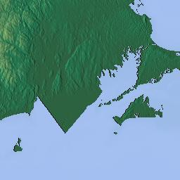 Elavation Map Of Rhode Island Usa