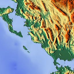 Elevation map of Ioannina Greece MAPLOGS