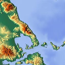 Elevation map of Larissa Greece MAPLOGS