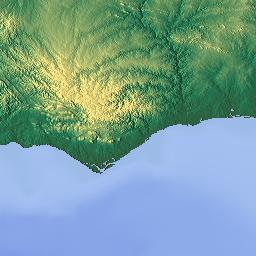 Elevation Map Of Beja District Portugal MAPLOGS - Portugal elevation map