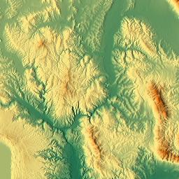 Elevation map of Province of Terni Italy MAPLOGS