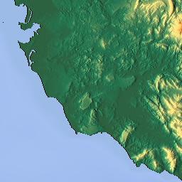 Elevation map of Tetouan Province Morocco MAPLOGS