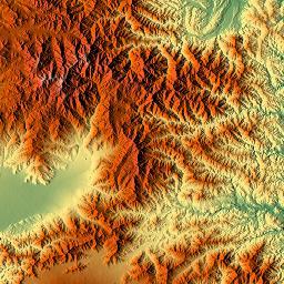 Elevation Map Of Yamanashi Prefecture Japan MAPLOGS - Japan map yamanashi ken